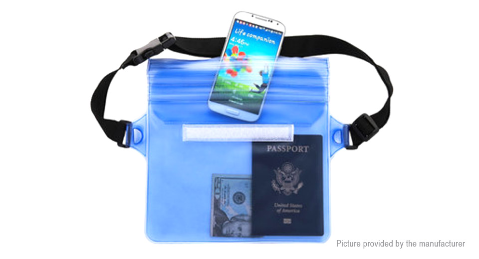 Waterproof Waist Pouch Portable Swimming Storage Bag Beach Organizer
