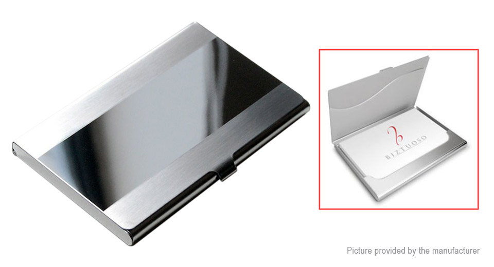 $2.54 Portable Stainless Steel Business Card Holder Case - sliver at ...