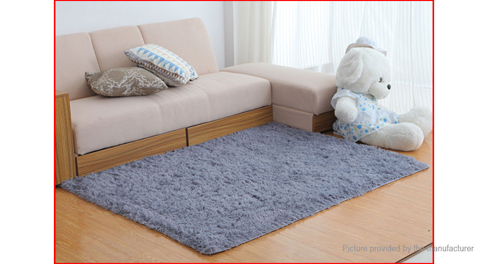 Soft Shaggy Anti-slip Carpet Bathroom Mat Floor Rug (80*160cm)