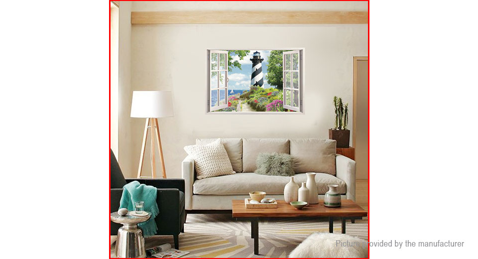 Window View Styled Wall Sticker Home Decor