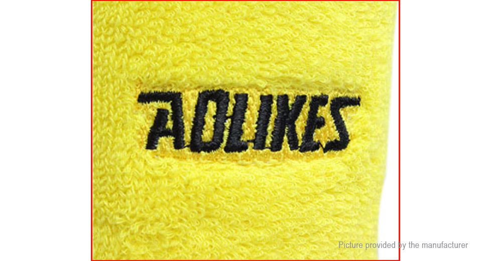 AOLIKES Unisex Cotton Wristband Sports Sweatband Gym Wrist Support Guard