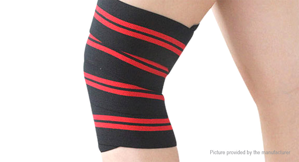 AOLIKES Weight Lifting Knee Support Brace Wrap Sports Bandage Protector