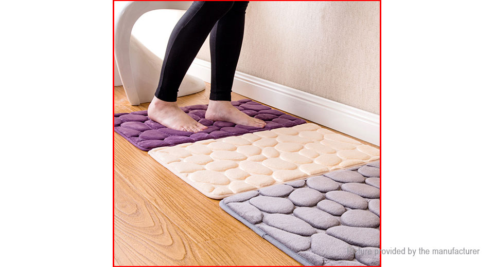 605 Non slip Pebbles Bath Mat Shower Carpet Bathroom Floor Rug