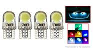 T10 2W 8-SMD LED 150LM 6000K Car Reading LED Light Bulb (4-Pack)