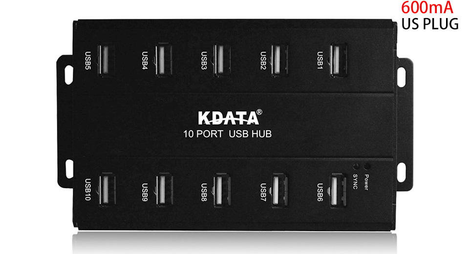 Product Image: kdata-gh-10e-10-port-usb-2-0-hub-us