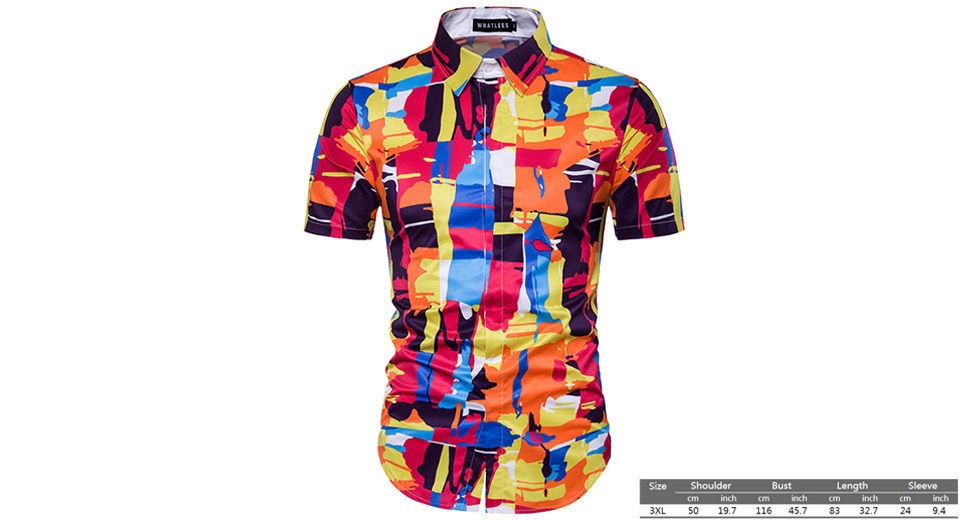 Product Image: men-s-3d-print-short-sleeve-button-down-shirt