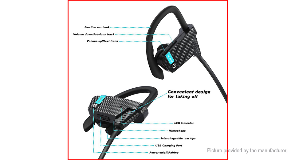 LE ZHONG DA CX-3 Sports Bluetooth V4.1+EDR Headset