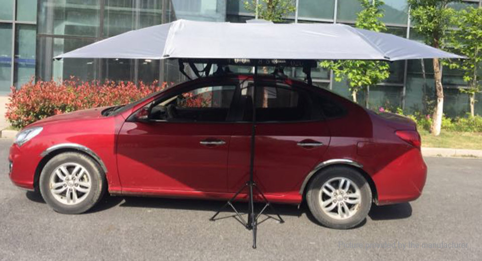... Universal Foldable Car Umbrella Sunshade Canopy Cover ... : folding car canopy - memphite.com