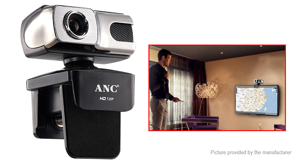 Aoni ANC HD 720p USB Webcam Camera for Desktop PC/Laptop