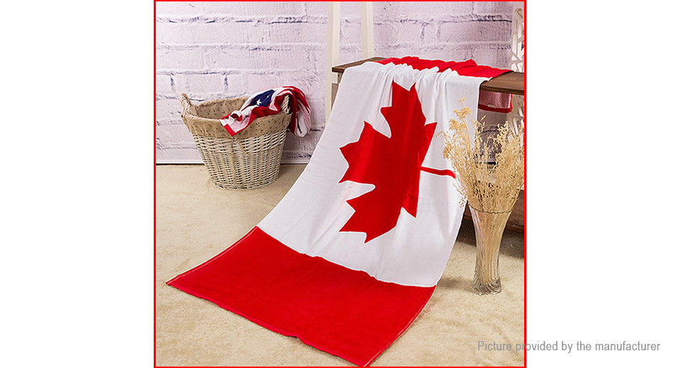 Product Image: canada-flag-pattern-cotton-breathable-beach-bath