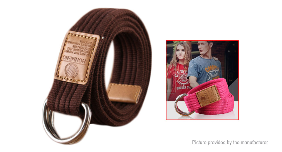 Product Image: unisex-double-loop-ring-buckle-casual-canvas