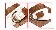 Unisex Double Loop Ring Buckle Casual Canvas Waist Belt