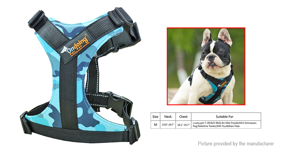 Product Image: ondoing-pet-dog-600d-oxford-fabric-harness-size-m