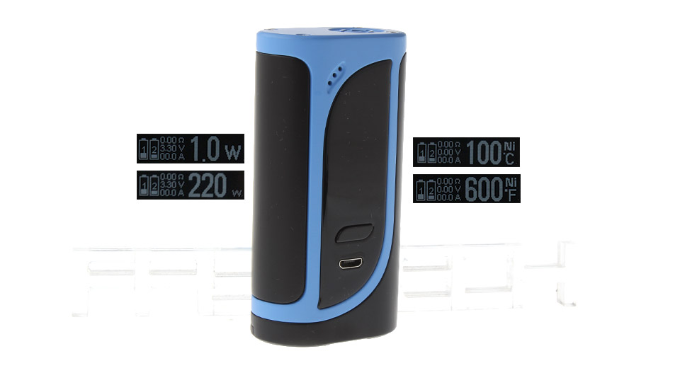 Authentic Eleaf iKonn 220 220W VW TC APV Box Mod (Blue Black)
