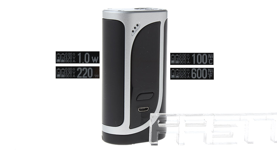 Authentic iKonn 220 220W VW TC APV Box (Silver Black)