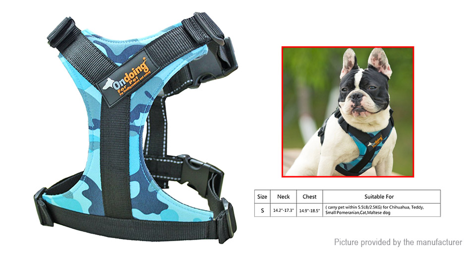 Product Image: ondoing-pet-dog-600d-oxford-fabric-harness-size-s