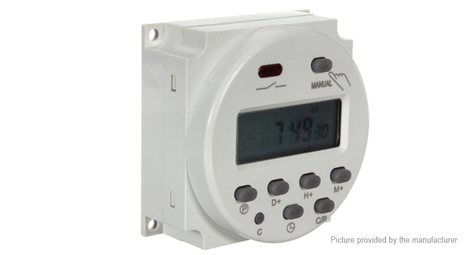 Digital Power Timer : V digital power programmable timer switch at