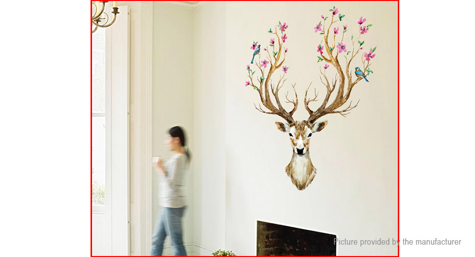 Sika Deer Styled Wall Sticker Home Decor