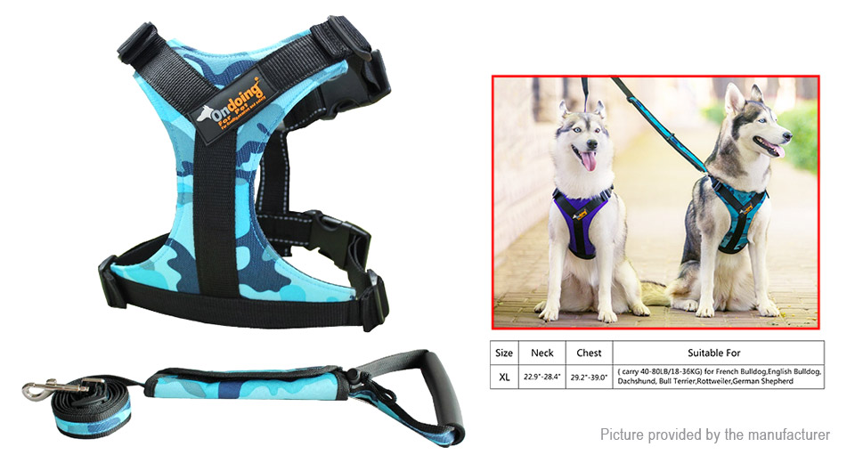 Product Image: ondoing-pet-dog-harness-walking-lead-leash-set