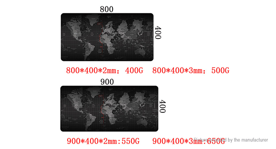 500*1000*2mm World Map Professional Large Game Mouse Pad Mat