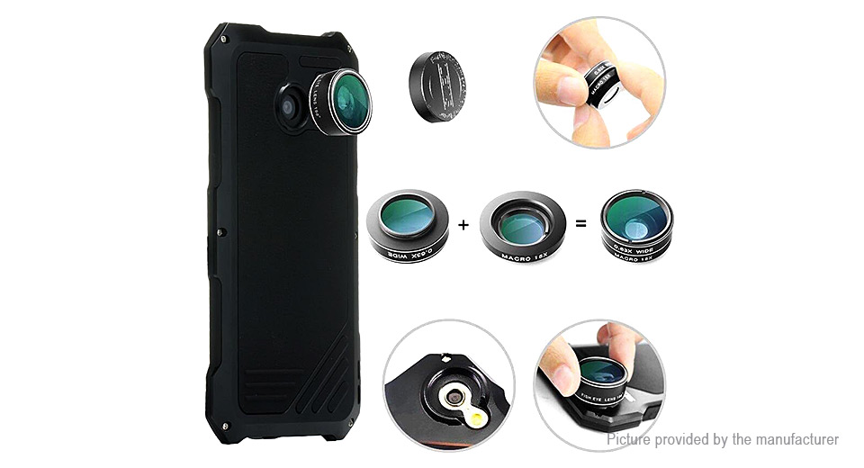 Camera Lens Kit Full-Body Protective Case Combo for Samsung Galaxy S7