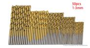 HSS Titanium Coated Drill Bit Set (50-Pack)