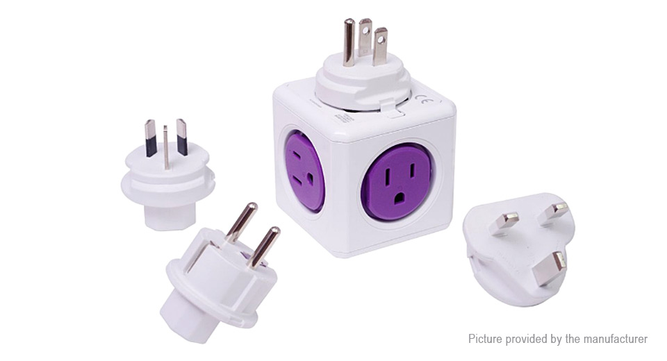 Allocacoc Extended Wall Adapter Socket Power Strip