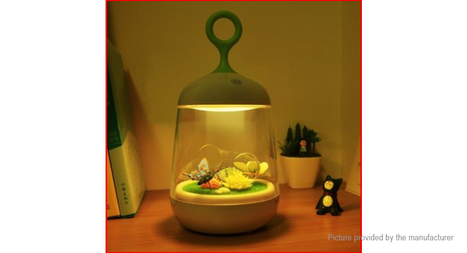 diy plant miniature usb rechargeable led night light