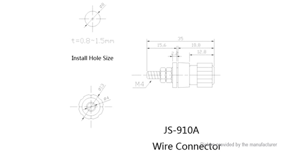 $1 79 js 910a ac dc 4mm wiring terminal block wire adapter terminal block plug js 910a ac dc 4mm wiring terminal block wire adapter connectors (10