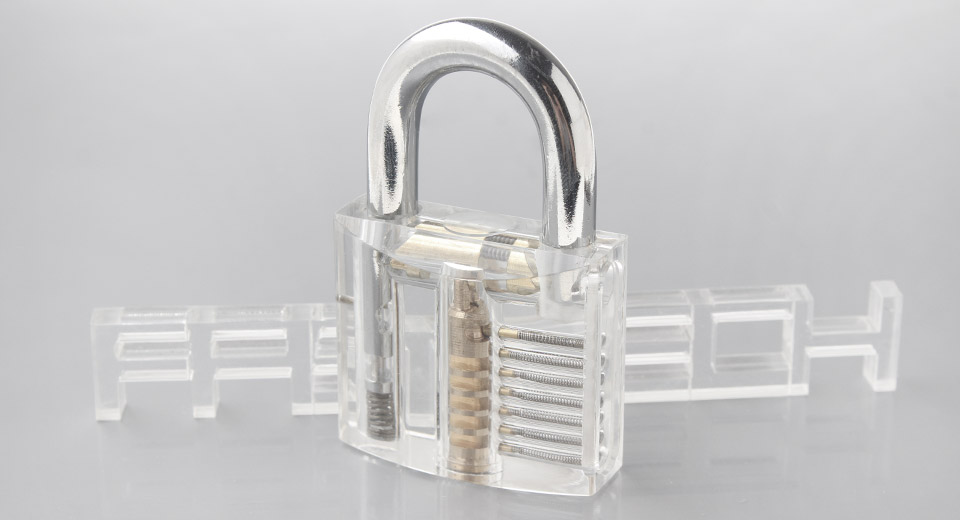 Translucent Padlock Unlocking Practicing Tool (12-Pack)