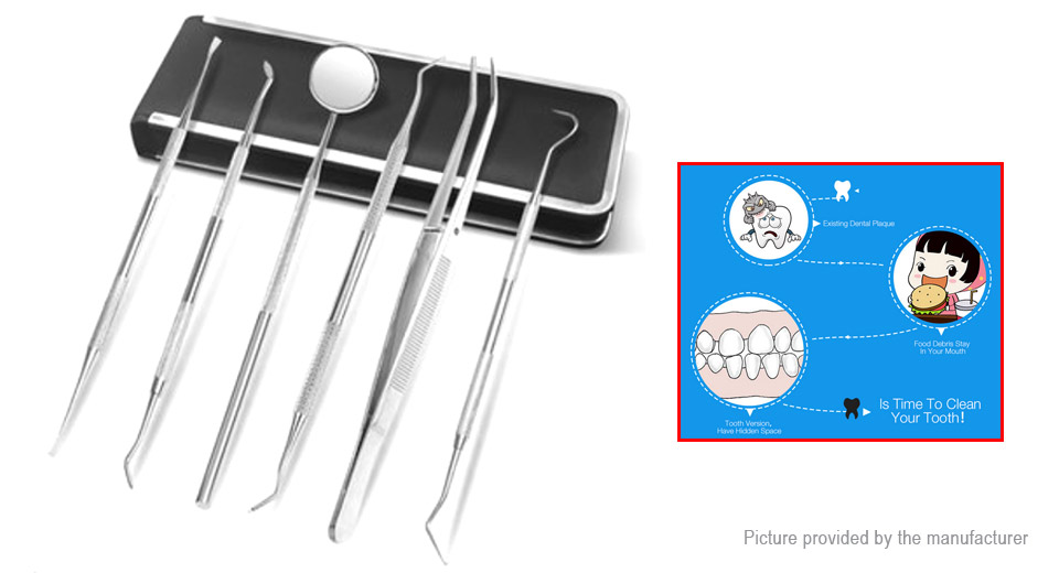 6-in-1 Dental Hygiene Cleaning Tool Set