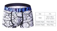 Zukulife Men's Ice Silk Sexy U Convex Underwear Boxer Briefs (Size 3XL)