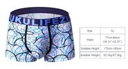Zukulife Men's Ice Silk Sexy U Convex Underwear Boxer Briefs (Size XL)