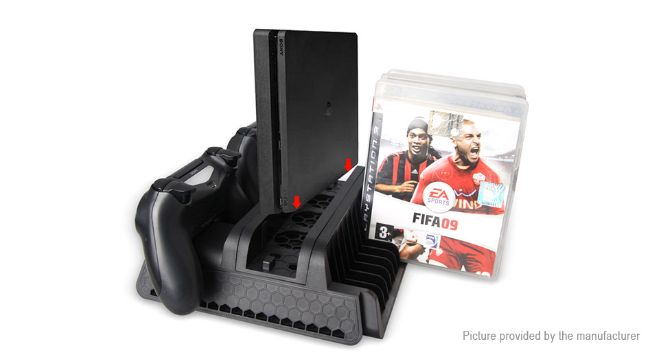 Cooling Fan + Game Disc Holder + Dual Charging Docking Station