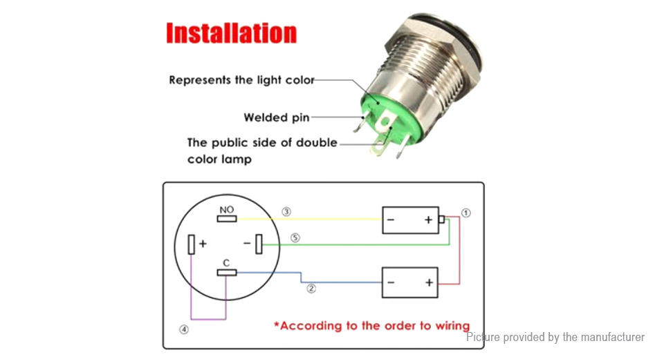 2 89 led metal cap power momentary push button switch