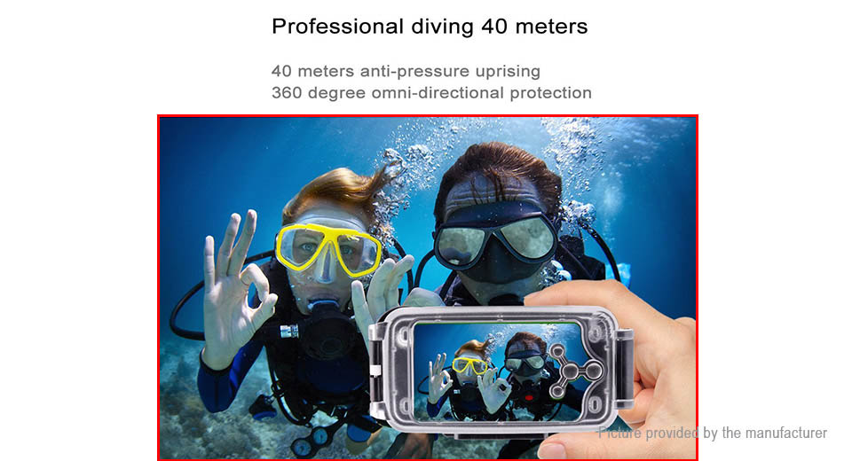 Orsda 40m Waterproof Diving Protective Cover Case for iPhone 7