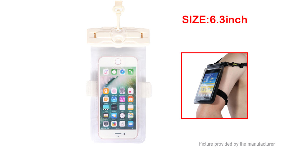 Tteoobl 21H Waterproof Protective Case Bag for Cell Phones within 6.3""