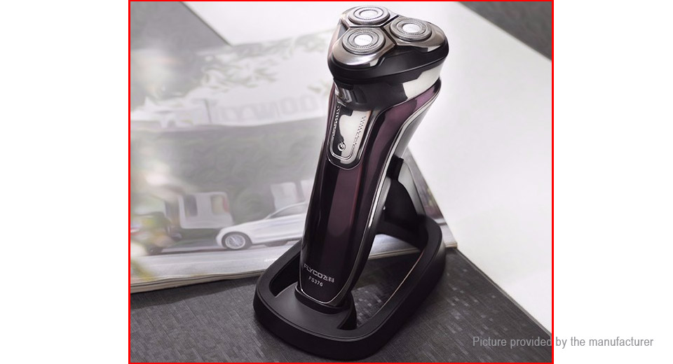 FLYCO FS376 Rechargeable Electronic 3-Head Rotary Shaver