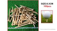 8.3cm Bamboo Golf Tee Golf Practice Accessories (100-Pack)