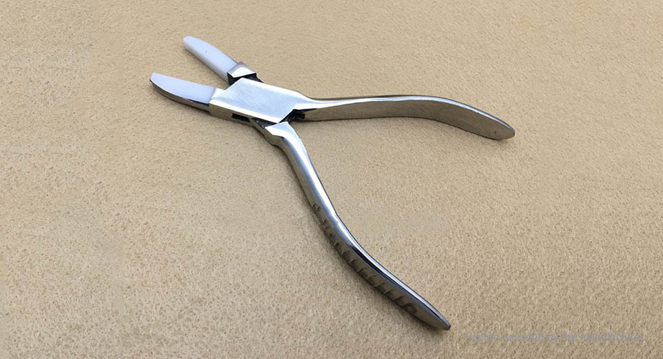 Professional Stainless Steel Flat Nylon Jaw Pliers for DIY Jewelry Tools