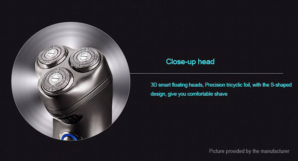 FLYCO FS351 Rechargeable Electric Floating 3-Head Shaver Razor