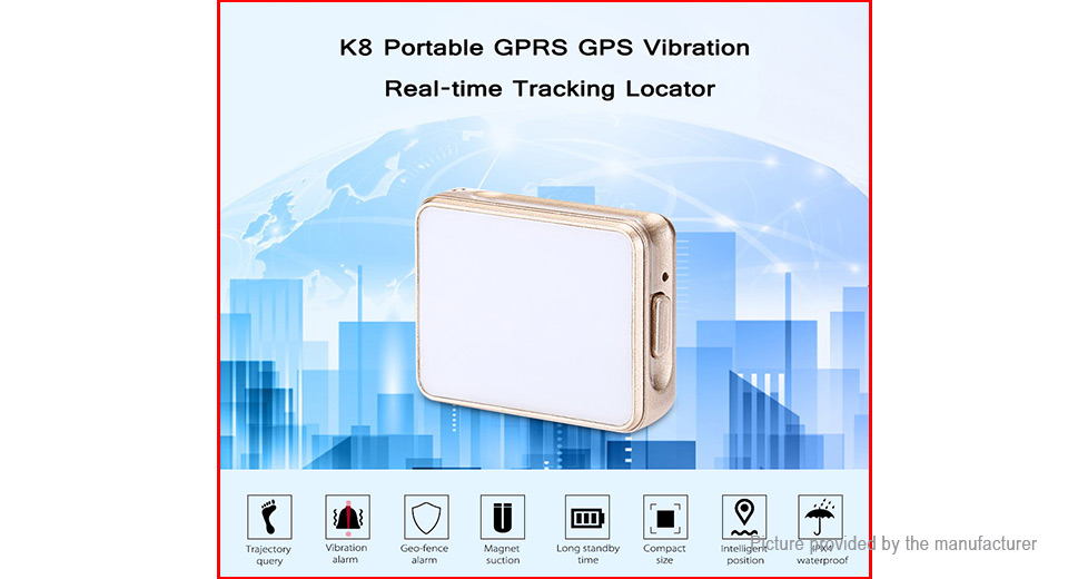k8 portable gprs gps vibration real time tracking locator at fasttech worldwide free. Black Bedroom Furniture Sets. Home Design Ideas