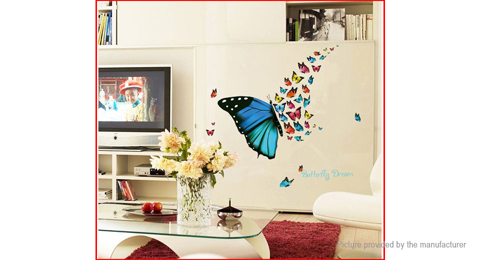 Colorful Butterfly Styled Removable Wall Sticker Fridge Home Decor