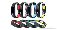 Replacement Double Color Silicone Strap Wristband for Xiaomi Mi Band 2