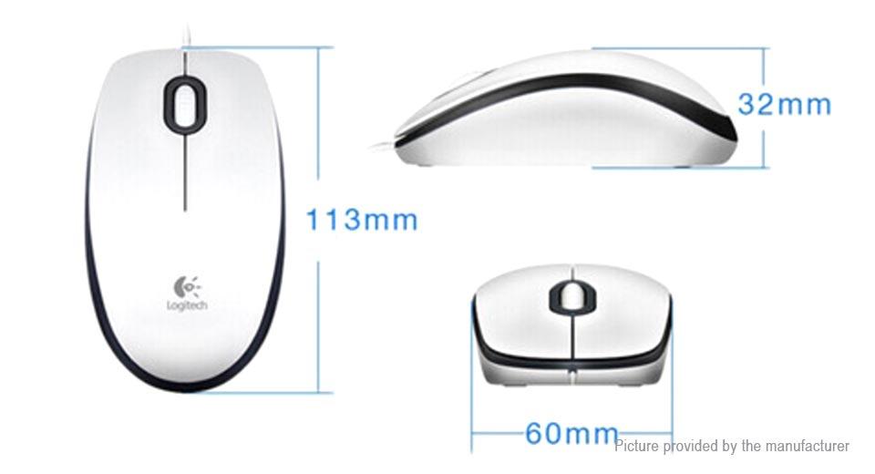Logitech M100R USB Wired Optical Mouse