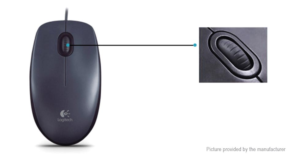 Logitech M90 USB Wired Optical Mouse
