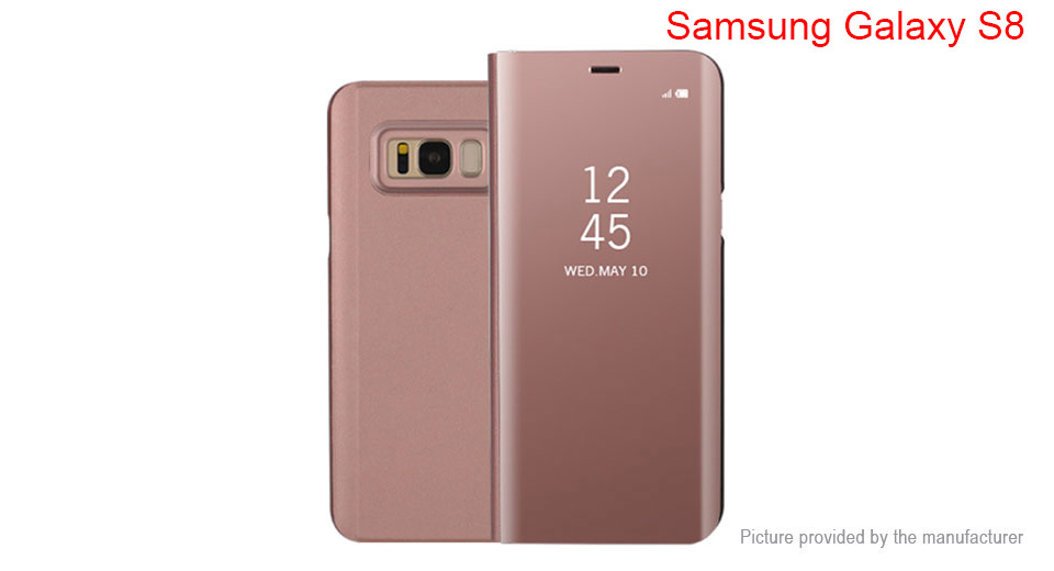Electroplating Mirror PC Flip-open Protective Case Cover for Samsung Galaxy S8