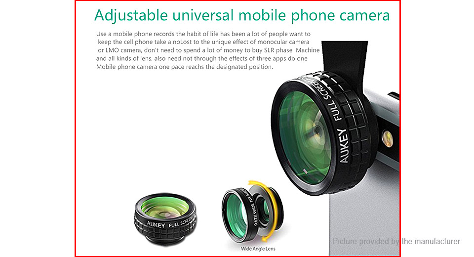 Aukey PL-A1 Clip-On Camera Lens for Cell Phones