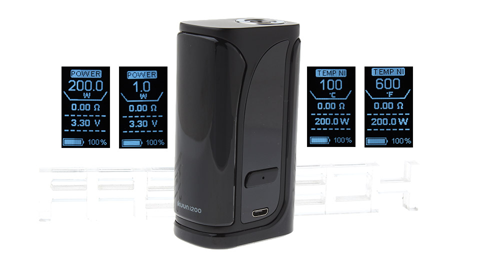 Authentic Eleaf iKuun i200 200W 4600mAh TC VW APV Mod