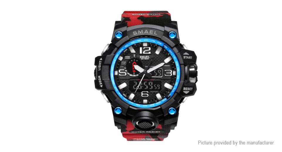 SMAEL 1545 Men's Outdoor Sports LED Digital Analog Quartz Wrist Watch